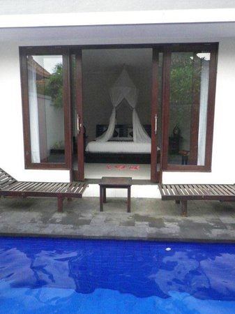 Evita Villa:                   Bedroom from pool