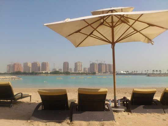Grand Hyatt Doha Hotel & Villas:                   Private beach