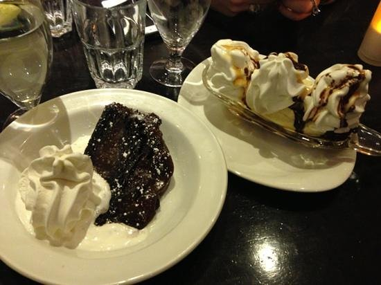 The Galleon Restaurant:                   death by chocolate and banana split