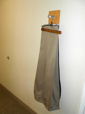Hampton Inn & Suites Amelia Island-Historic Harbor Front:                   I love it when hotels provide luggage racks and hooks for clothes OUTSIDE of c