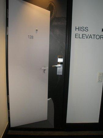 Nordic C Hotel:                   room door