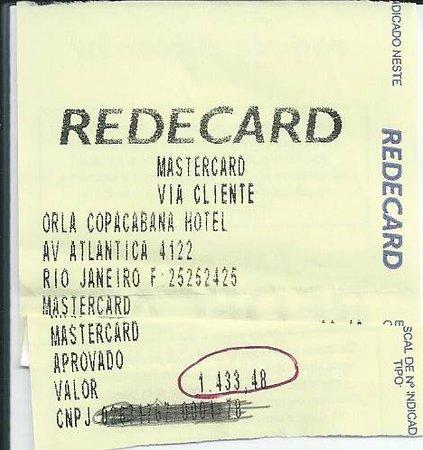 Orla Copacabana Hotel:                   Nada Barato!