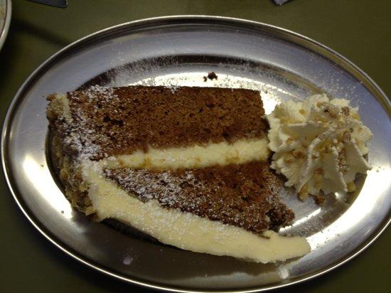 Pauline's Creamery:                   Carrot cake