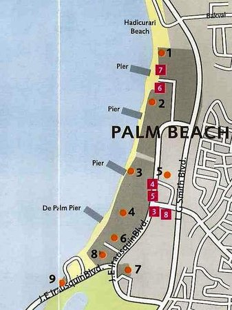 Map Over Palm Beach North Of Eagle Picture Hotel Riu
