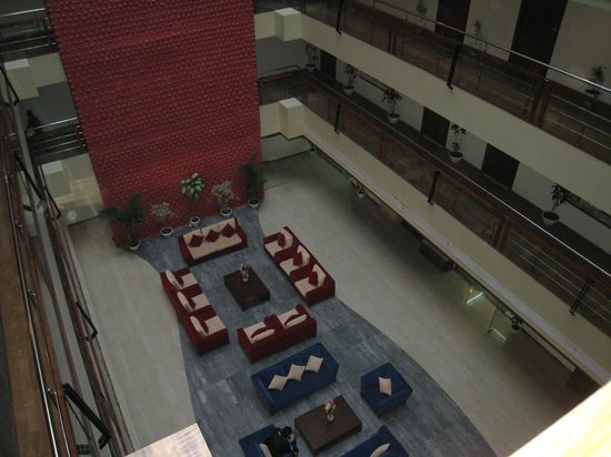 The White Hotels:                   View from the corridor