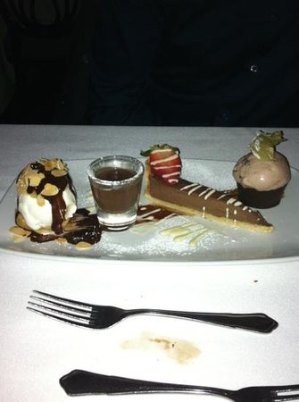 La Boheme:                   wow chocolate platter
