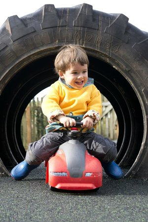 Knowle Farm: Ride-on Toys and Tractor Tyre Tunnel