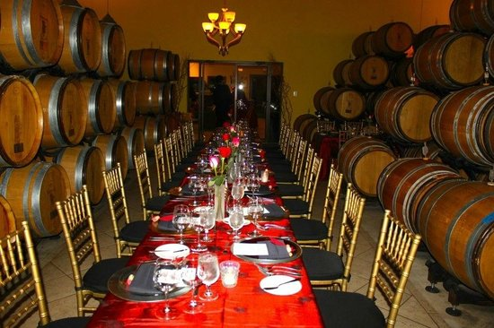 Pearmund Cellars Winery:                                                       Part of the set-up for the Valentine's Din