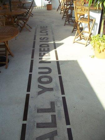 Carmen Inn:                   flooring at the rooftop