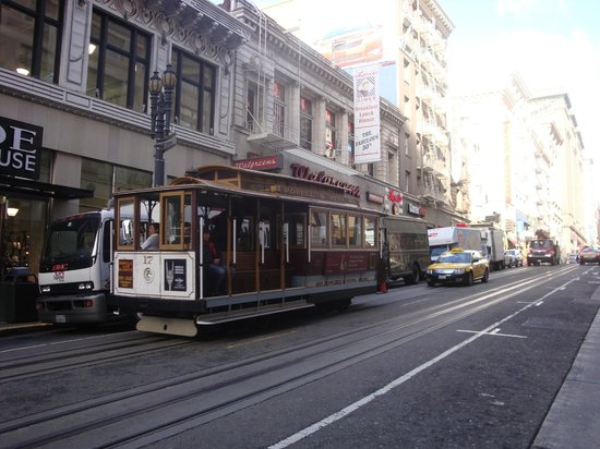 Hotel Bijou:                   Cable Cars just around the corner
