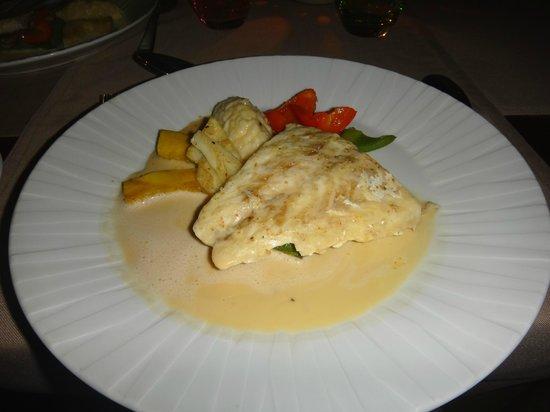 Hotel L'Archipel:                   Ужин. Горячее блюдо (рыба-гриль с овощами)