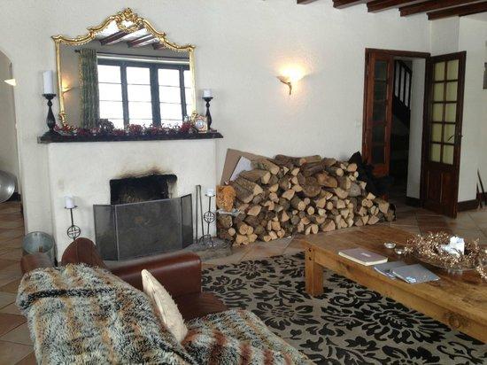 Vert et Blanc:                   Fireplace