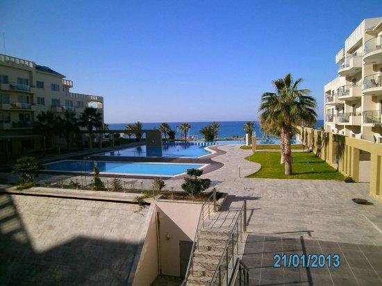 Capital Coast Resort & Spa:                   Aussicht in Richtung Meer