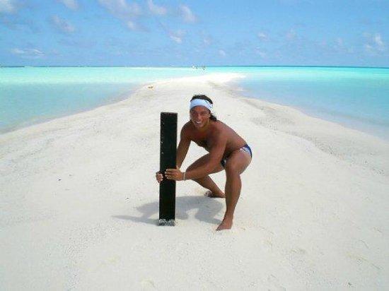 Kuramathi Island Resort:                   Lingua di sabbia
