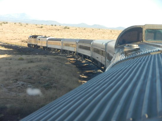 Grand Canyon Railway:                   View of the train from the train