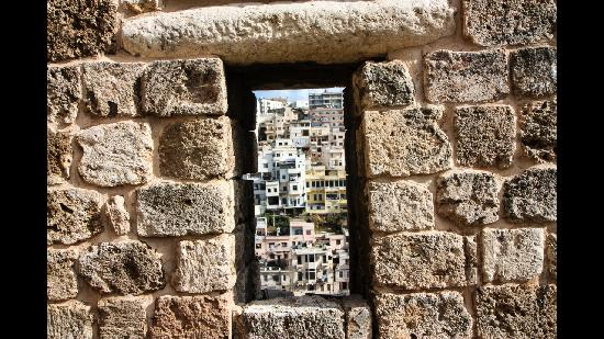Citadel Saint Gilles (Qal'at Sinjil) :                   View from one of its windows