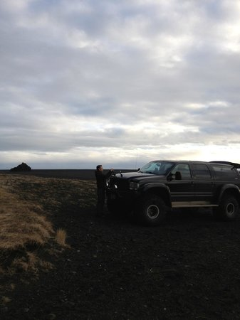 Volcano Hotel:                   Supertruck, adjusting the Go Pro camera