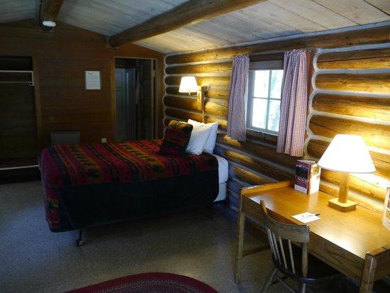Colter Bay Village:                   L'intérieur de la cabine 623