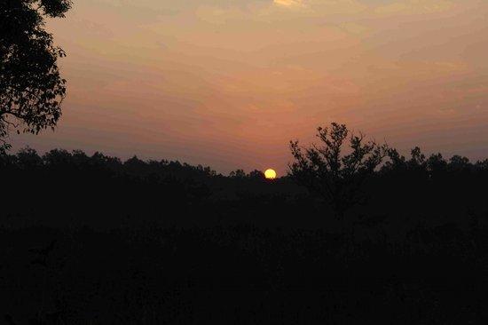 Kanha Jungle Lodge:                                     Sunset in Kanha