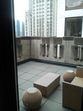 The Gwen, a Luxury Collection Hotel, Chicago:                   Corner Suite w/outdoor balcony on 14th floor