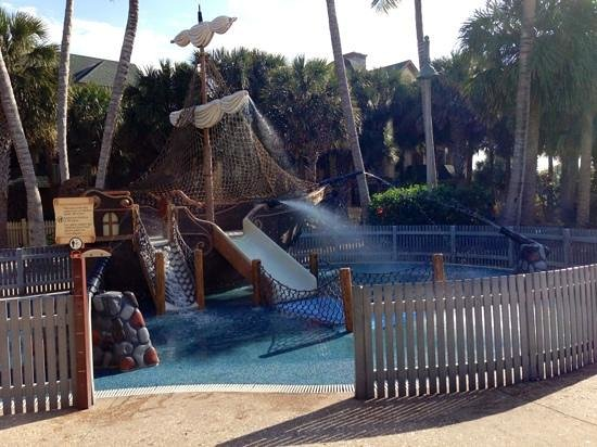 Disney's Vero Beach Resort:                                     fenced in and safe for the little ones