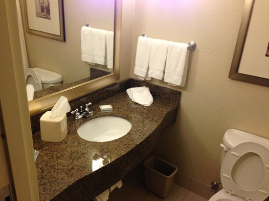 Hilton Garden Inn Mount Holly/Westampton:                   Exceptionally Clean Bathroom!!!