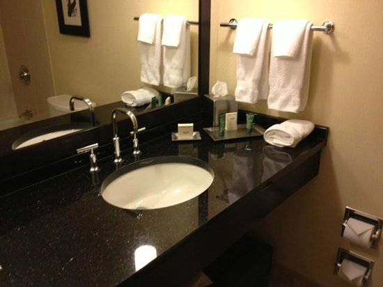 Hilton Atlanta:                   1/2 Updated bathroom