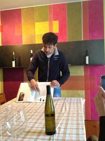 Tenute Baldovino :                   Our host Carlo, explaining Asti - and his family's - wine history