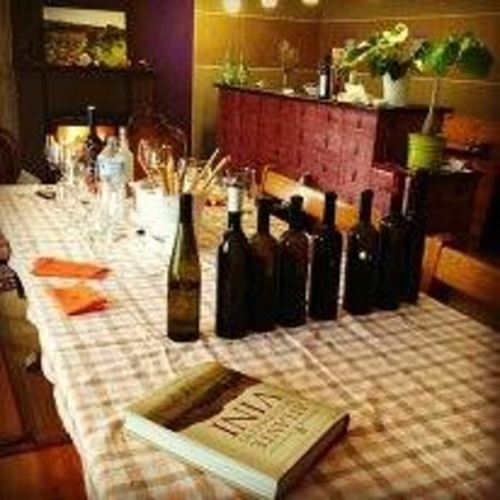 """Tenute Baldovino :                   And then there were none... the empty bottles and glasses from our """"three hour"""