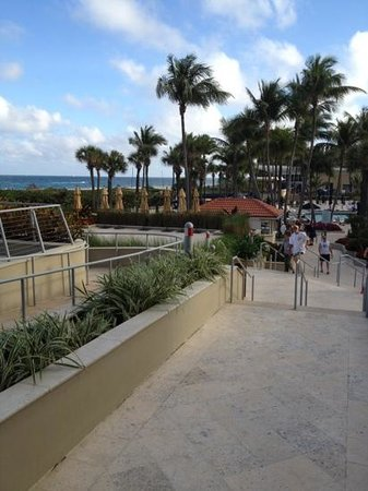 Fort Lauderdale Marriott Harbor Beach Resort & Spa:                   just as u walk out of the hotel, looking towards the pool area