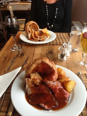 The Jolly Fisherman Pub:                   Really lovely Sunday roast, photo without the veg!