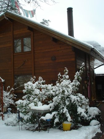 The Canyon Wren - Cabins for Two:                   Lovely little cabin in the snow!