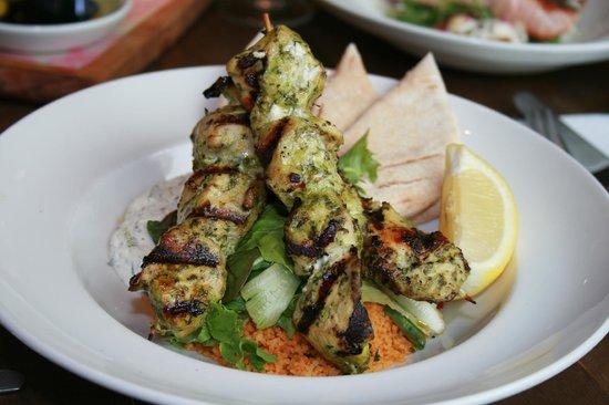 Bill's Restaurant: Marinated Chicken Skewers