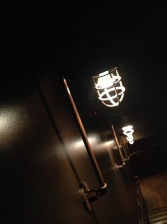 Rockit Bar & Grill: really appreciated the design elements in Rockit. the bathroom area was beautifully designed...h