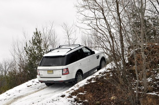 Land-Rover Experience Driving School:                                     steep inclines around tight corners
