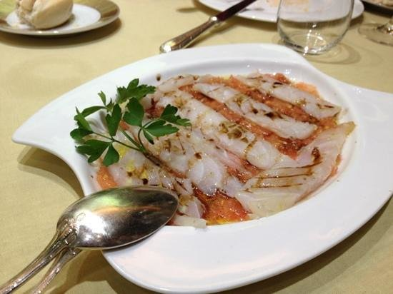 El Hidalgo Restaurante:                   carpaccio de bacalao