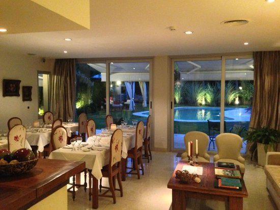 San Isidro, Argentina:                   Breakfast and Dining Room Overlooking the Garden