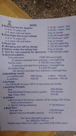 Isla Reta Beach Resort Rates