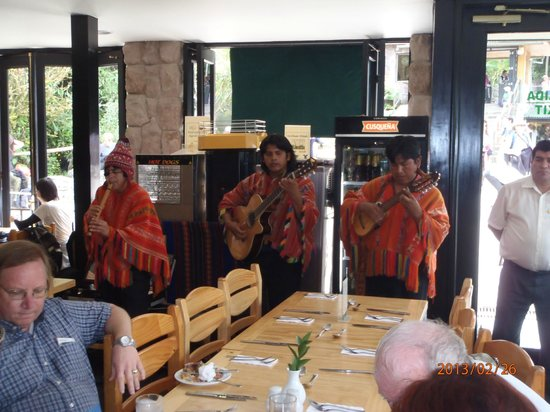 Belmond Sanctuary Lodge:                                     buffet lunch entertainment