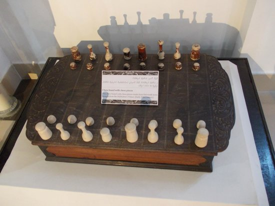 National Museum: Chess made from fish tooth