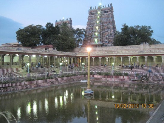 Sri Meenakshi Temple: The holy pond inside the temple wall