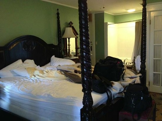Inn On Charlotte:                   Henry Flagler's Verandah / after 2 nights... sorry for the mess