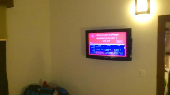 Hotel HEX: LCD wall mounted television in room