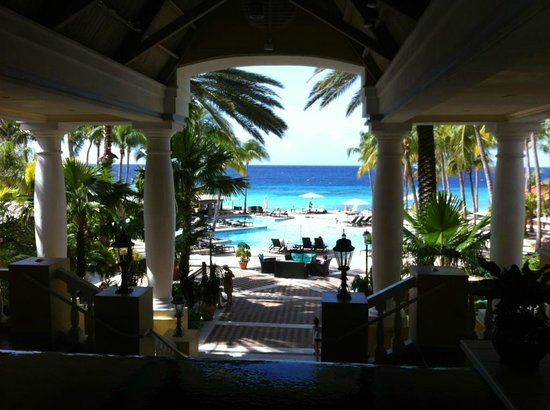 Curacao Marriott Beach Resort & Emerald Casino:                   view to the pool and the beach