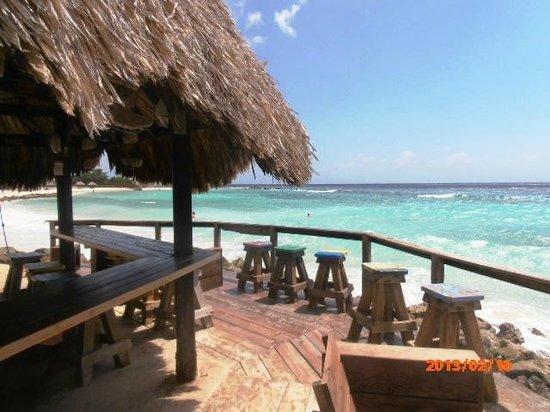 Curacao Marriott Beach Resort & Emerald Casino:                   the bar on the beach