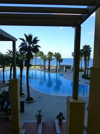 Hilton Malta:                   Poolbereich