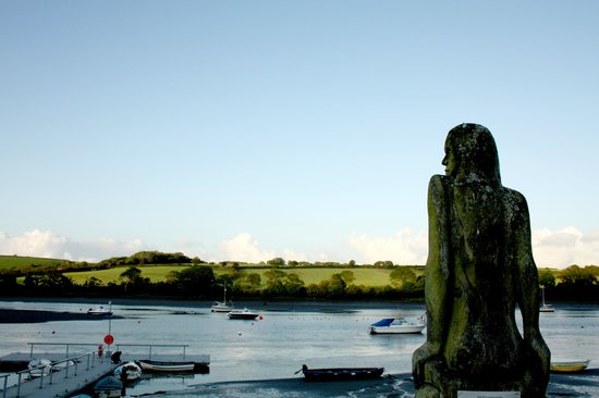 Pembrokeshire Coast National Trail Marker:                   Mermaid Statue by the marker
