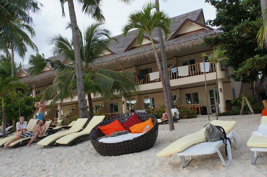 Ocean Vida Beach & Dive Resort: Blick vom Strand