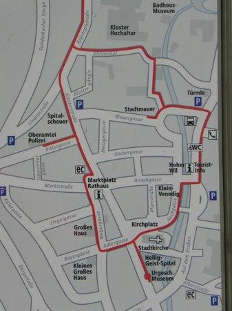 Adler Hotel Restaurant:                   Town walking map