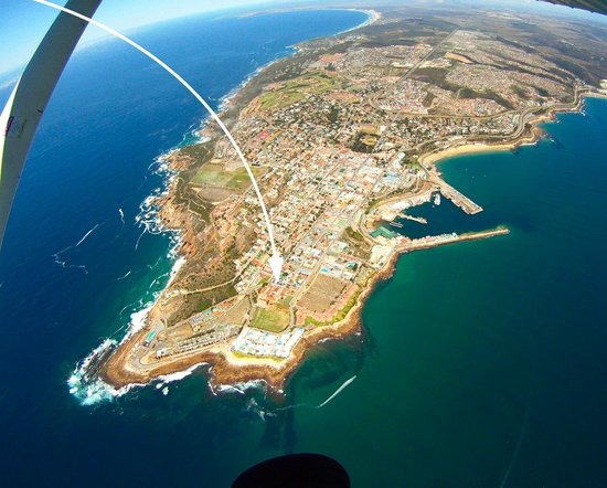 Mossel Bay Backpackers: Arial view